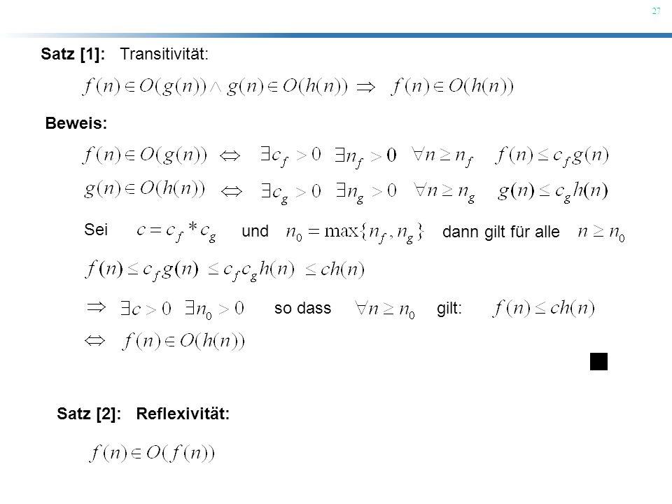 Satz [1]: Transitivität: